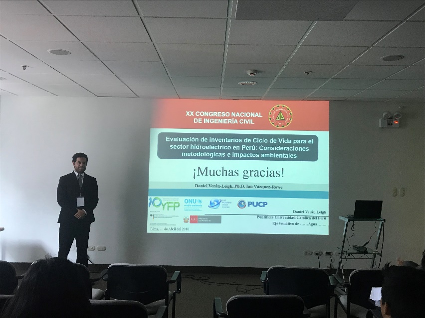 Participation in the Twentieth National Congress of Civil Engineering (XX CONIC) held in Lima