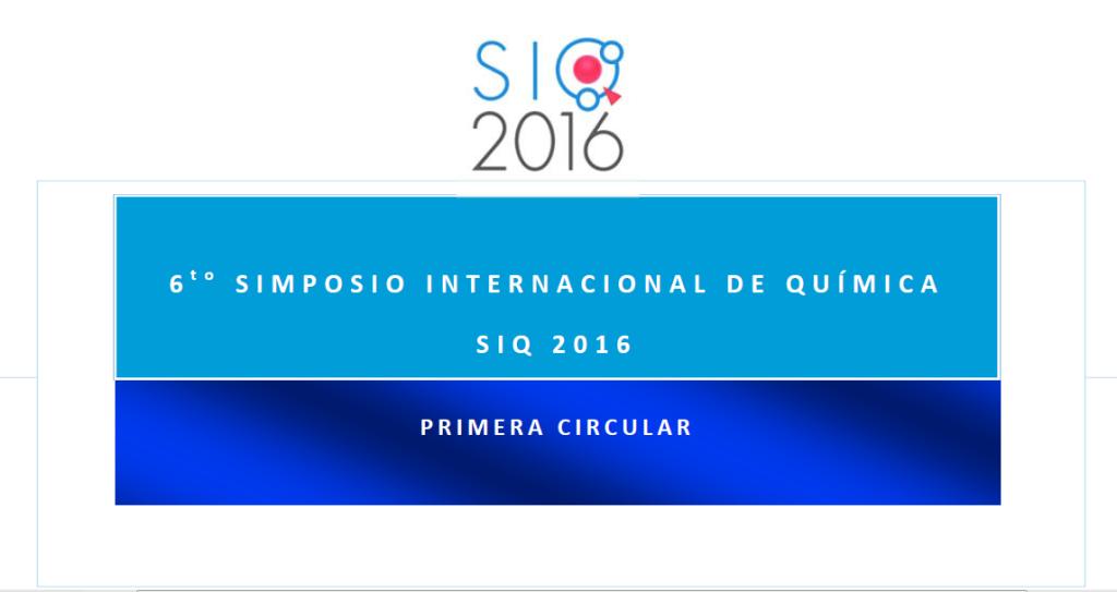 (Español) Simposio Internacional de Química