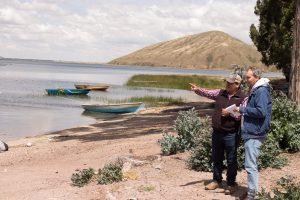 Visita de investigadores PELCAN a planta de procesamiento Truchas Arapa Perú