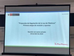 (Español) Participación de PELCAN en elaboración de reglamento de Ley que regula el plástico en el MINAM