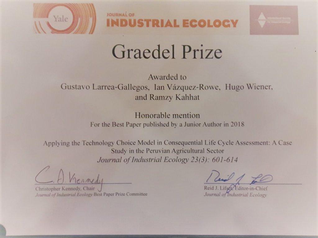 (Español) Premio para Gustavo Larrea Gallegos en la conferencia ISIE 2019