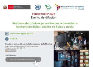Evento de difusión del Proyecto COP – RAEE
