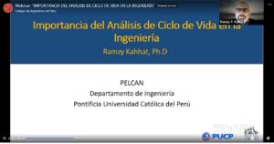 """(Español) Ponencia de Ramzy Kahhat en webinar """"Importancia del Análisis de Ciclo de Vida en la Ingeniería"""""""